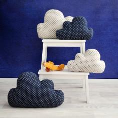 Polka dot cloud cushion (various colours)