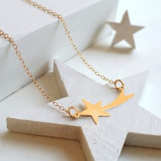 Personalised Gold Shooting Star Necklace