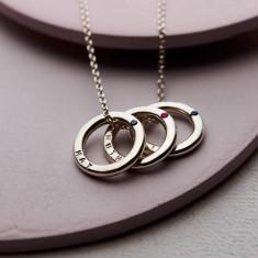 Personalised Precious Stone Mini Message Necklace
