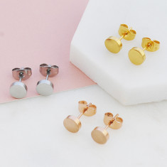 Delightful dot studs in silver, gold or rose gold