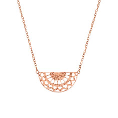 Ottoman Necklace in Rose Gold Plate