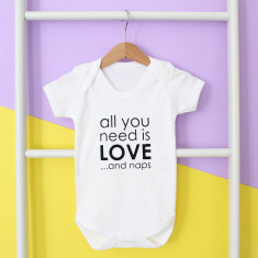 All You Need Is Love And Naps Baby Grow