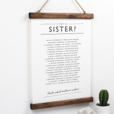 Sister Poem Print