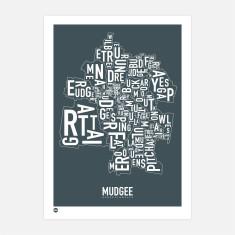 Mudgee typographic print