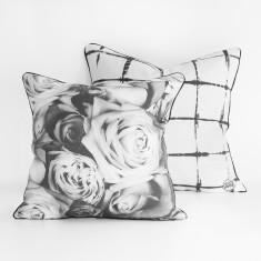 Roses & Shibori Cushion Cover