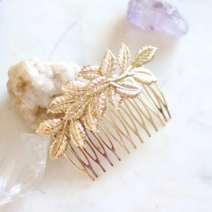 Gold Boheme hair comb