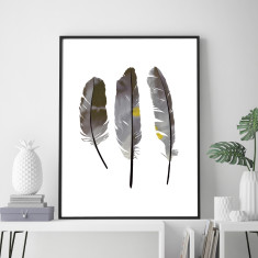 Three feathers art print (various sizes)