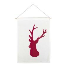 Deer handmade wall banner