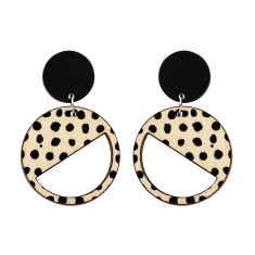 Two tiered earrings with spots