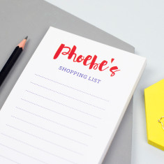 Personalised script shopping list notepad