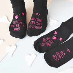 This Little Piggy… Personalised Prosecco Socks