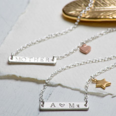 Personalised balance bar necklace