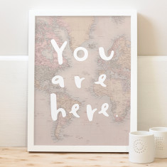 You are here map print