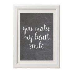 You make my heart smile chalk style print