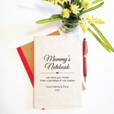 Your personalised reusable notebook cover (including notebook)