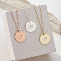 Personalised monogram necklace