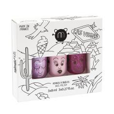 Las Vegas non-toxic wash-off nail polish for kids (set of 3)