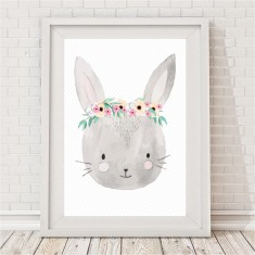 Pretty Bunny Watercolour Print