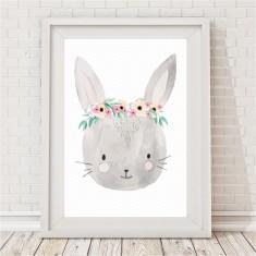 Pretty Bunny Watercolour Print