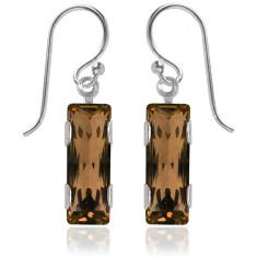 Swarovski crystal city earrings in light smoked topaz
