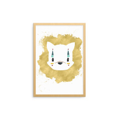 Tribal Animal Fox Fine Art Nursery Print