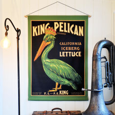 King Pelican Linen Wall Hanging
