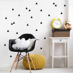 Mini triangles wall decal