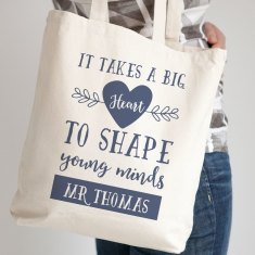 Personalised 'It Takes a Big Heart' Tote Bag