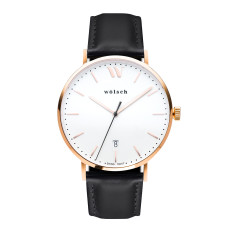 Versa 40 Watch In Rose Gold with Black Band