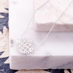 Anaar Pendant Bracelet In Silver