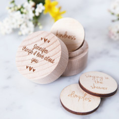 Personalised Reasons I Love You Token Box