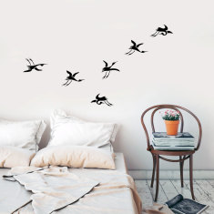 Japanese Cranes Wall Decal