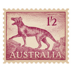 Tasmanian Tiger Australian postage stamp wall sticker