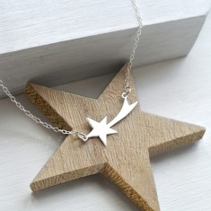 Personalised Sterling Silver Shooting Star Necklace