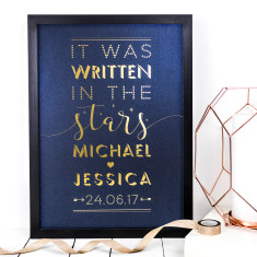 It was written in the stars personalised foil print