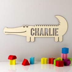 Personalised Wooden Crocodile Sign