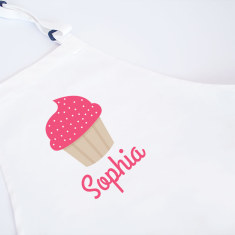 Cupcake Personalised Kids' Apron - Various Colours