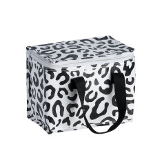 Insulated Lunch Box bag in Leopard print