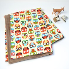 Bright Owls baby blanket