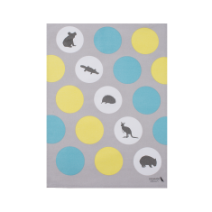 Australiana Aussie animals tea towel