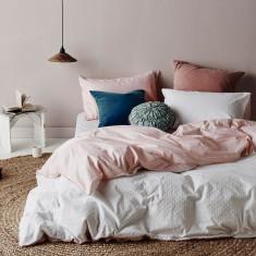 Stillness quilt cover set in Pink
