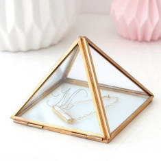 Personalised Glass Pyramid Jewellery Box