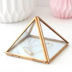 Personalised Glass Pyramid Jewellery Box