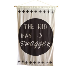The kid has swagger giant wall flag