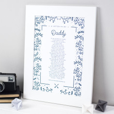 Personalised Gift For Daddy Poem Print