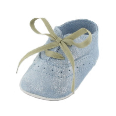 Dida blue sky booties with shoelace