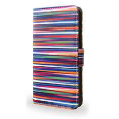 Blurry Lines Striped Smartphone Wallet Phone Case
