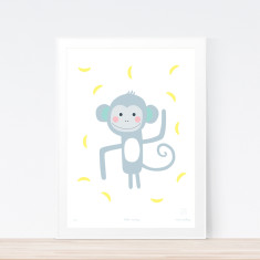 Little monkey art print