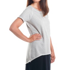 Short Sleeve Raglan Summer Sweat in Grey Marle