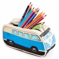 Blue VW Campervan pencil case